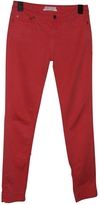 Chloé Red Cotton Trousers
