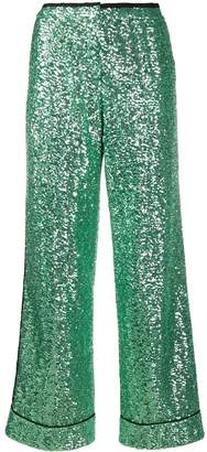 Loren In The Mood For Love sequinned wide-leg trousers