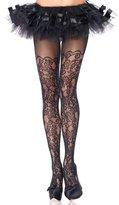 Leg Avenue Plus Size Hosiery Lingerie Floral Lace Net Pantyhose