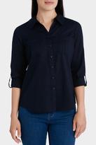 Essential Basic Cotton 3/4 Sleeve Shirt