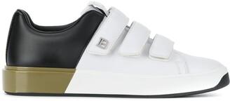 Balmain B-Court contrast panel low-top sneakers