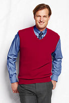 Classic Men's Cashmere Sweater Vest-Rich Red