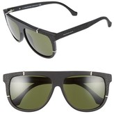 Balenciaga Women's Paris 58Mm Flat Top Sunglasses - Matte Black/ Green Lenses