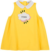 Fendi Cloud-Print Stretch-Cotton Dress