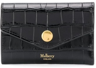 Mulberry embossed logo wallet