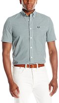 Fred Perry Men's Classic Gingham Shirt, Medieval Blue, XX-Large