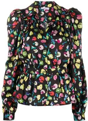 Amen Pointed Collar Floral-Print Shirt