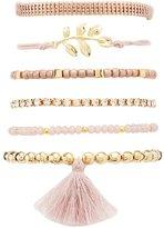 Charlotte Russe Mixed Rhinestone & Beaded Bracelets - 6 Pack