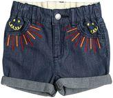 Stella McCartney Embroidered Cotton Chambray Shorts