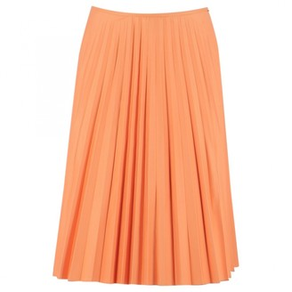 Paule Ka Orange Cotton Skirt for Women