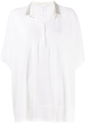 Fabiana Filippi Embroidered Collar Knitted Top