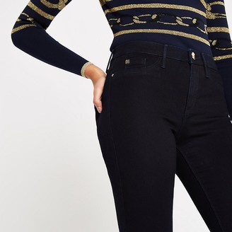 River Island Navy Molly mid rise jeggings
