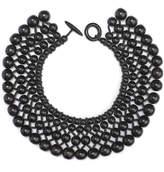 Josie Natori Four Layer Beaded Necklace