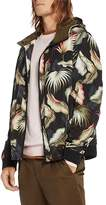 Scotch & Soda Leaf Print Hooded Jacket