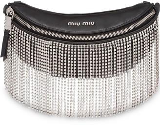 Miu Miu Embellished Fringed Belt Bag