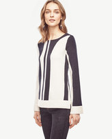 Ann Taylor Colorblock Flare Sleeve Sweater