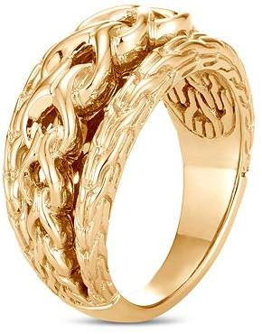 John Hardy 18K Yellow Gold Classic Chain Link Ring