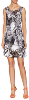 Robbie Bee Chiffon Print Overlayer Shift Dress