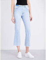 Maje Prudy flared cropped mid-rise jeans