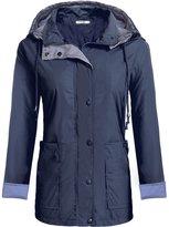 Meaneor Women's Packable Waterproof Rain Jacket Outdoor Raincoat with Zipper XXL