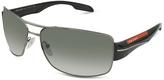 Prada Rectangle Metal Frame Sunglasses