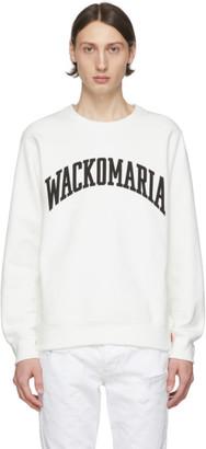Wacko Maria White Heavyweight Logo Sweatshirt
