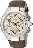 Philip Stein Teslar Mens Tan Watch with Vintage-Inspired Strap
