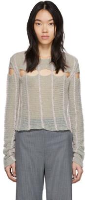 Eckhaus Latta Grey Peaking Sweater