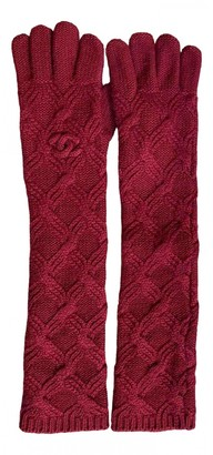 Chanel Red Cashmere Gloves