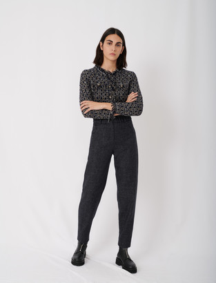 Maje Checked pants in recycled wool