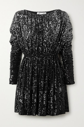 Saint Laurent Degrade Sequined Stretch-knit Mini Dress