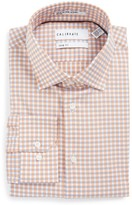 Men's Calibrate Trim Fit Non-Iron Check Stretch Dress Shirt
