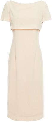 Goat Jacqueline Cape-effect Wool-crepe Dress