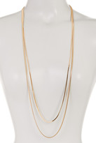 Nordstrom 2 Row Snake Chain Necklace