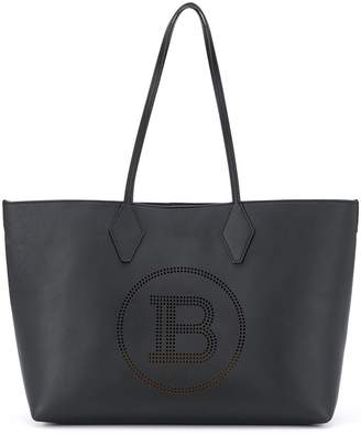 Balmain logo detail tote bag
