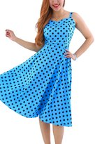 YMING Womens Rockabilly Polka Dot Retro Vintage Tank Dress L