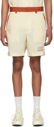 Wacko Maria Off-White Two-Tone Asshole 50s Shorts