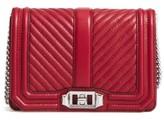 Rebecca Minkoff Small Love Leather Crossbody Bag - Red