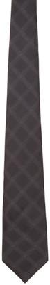 Comme des Garçons Homme Deux Grey Geometric Pattern Tie