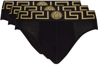 Versace Iconic Greca Briefs (Pack of 3)