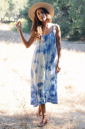 Maternity Rayon Tie-Die Caity Dress