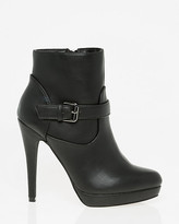 Le Château Leather-Like Almond Toe Ankle Boot