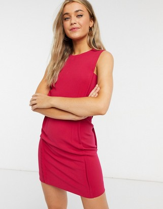 French Connection mini shift dress in magenta