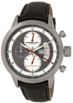 Raymond Weil Men&s Freelancer Titanium Swiss Automatic Chronograph Leather Strap Watch