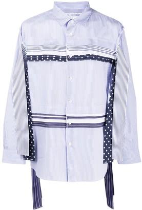 Comme des Garçons Shirt Layered Style Striped Shirt
