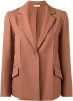 Nina Ricci one button blazer - women - Silk/Wool - 36