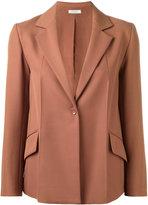 Nina Ricci one button blazer - women - Silk/Wool - 36