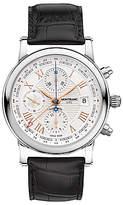 Montblanc 113880 Star Roman Chronograph Utc Automatic Carpe Diem Special Edition Leather Strap Watch, Black/white