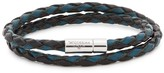 Tateossian Scoubidou Two-tone Leather Wrap Bracelet