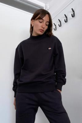 Dickies Bardwell Mock Neck Sweatshirt - Black XS at Urban Outfitters